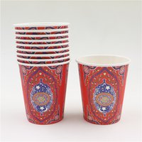 arabic party theme - islamic month islam ramadan theme disposable paper cups glasses drinking arabic birthday party decoration supplies favors