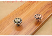 antique chinese cabinet hardware - Ancient Old Chinese kniting Antique copper single door knob cabinet pull wardrobe hardware locker drawer pulls furniture accessories