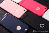 Para el iPhone 6s 7 Frosted Matte ultra finas TPU piel suave caso del iPhone Fingerprint-Proof cubierta de color a prueba de polvo Candy Color para iPhone5 7 Plus