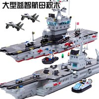 aircraft carrier group - The enlightenment puzzle toy explosion assembled block super large aircraft carrier group puzzle toys