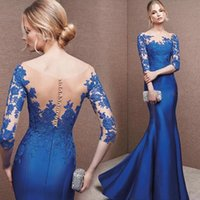 Wholesale 2017 Taffeta Cheap Velvet Evening Dresses Vintage Mermaid Sexy Bateau Long Sleeve Party Prom Gowns Floor Length Velvet Vestidos De
