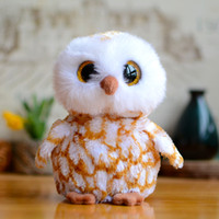 barn gifts - Original Ty Collection Big Eyes Beanie Boos Kids Plush Toys Brown Barn Owl Lovely Baby Gifts Kawaii Cute Stuffed Animals Dolls