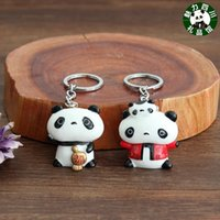 Ceramics Light Yellow Bamboo Dragonfly Full court 10 pieces of mail, Sichuan panda souvenir, resin panda key buckle, Chinese wind, Chengdu souvenir small gift