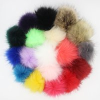 Wholesale Fashion Jewelry Key Chains DIY CM Faux Fox Fur Pom Pom Ball for Chaveiro Keychain Bulb Bag Car Ornaments Pendant
