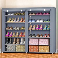 Wholesale New Super Large Double Row Shoes Rack Storage Hanger Cabinet Dustproof Portable Shelf for Shoes Housekeeper Hot