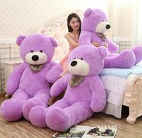 manteau de 15 pouces achat en gros de-2017 New Arriving Giant Dimensions angulaires 200CM / 78''inch TEDDY BEAR PLUSH HUGE SOFT TOY Jouets en peluche Cadeau Saint-Valentin 5 couleurs marron