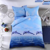 Wholesale MEILUO New D Home Textile Dolphin Bedding set Duvet Cover Set Pillowshams for Queen King Single Double Full size