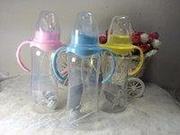 Bouteille de bébé en gros-mignon Bébé nourrisson Enfants de nouveau-né Apprendre Alimentation Boire Poignée Bouteille enfants Straw Juice eau Bottlesl 3ps nz18
