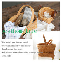 basket items wholesale - Handcrafted Wooden Basket Basket Household Items Containing Handy Picks Fruit Easter Basket Food dry goods fruit flowersbest home life