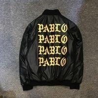 Wholesale 2017 Pablo Winter Letter Printed Women Men Jacket Brand warm thick padded jackets coats Hiphop streetwear Y Pablo Kanye West