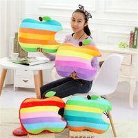 Apple apple stuffed animal - New Creative Multicolour Apple Pillow Plush Toy Office Cushion Stuffed Animal Home Decoration