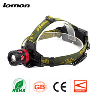 Wholesale Zoomable LED Headlamp Modes CREE XPE Rotate Recharcgeable Zoom Headlight Hunting Hiking Fishing Torch Military Super Bright Head Lamp hot