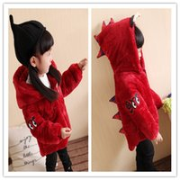Wholesale Kids Winter Coats Baby Clothes Cute Cartoon Boys Girls Little Monsters Cotton padded Clothes Kids Winter Jacket Kids Clothing