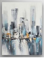 Oil Painting abstract architecture - Brand New Modern Abstract Oil Painting on Canvas Architecture Cityscape Hand painted Home Wall Decor Paintings A08