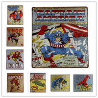 Wholesale METAL TIN SIGN SUPER HEROS POSTER Vintage Decor Home Bar Pub Garage Wall Poster