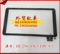 Wholesale Original quot Tablet PC Capacitive HOTA TOUCH HC256145C1 FPC V1 Touch Screen Digitizer Black Glass Panel Replacement