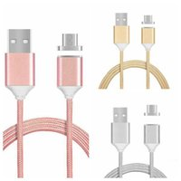 Wholesale 2 A Magnetic Fast Charging Cable for Android Mobile Phone Micro Type C USB Nylon Braided Aluminum Alloy Metal Magnetism Data Sync Lines