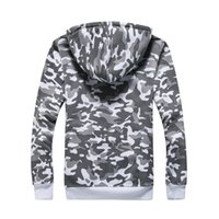 Wholesale Hooded camouflage coat jackets fashion men s long sleeve clothes