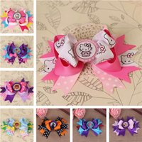 ribbon   flowers hairpin bows minnie barrette hello Kitty hairpins baby hair clips for girls ribbon bows accessories pince cheveux YiWu*