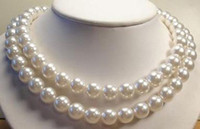 Beaded Necklaces aw grade - Details about Long quot mm White South Sea Shell Pearl Necklace AAA Grade AW