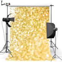 Wholesale 5x7ft Vinyl Photography Background For Children Golden Shimmer Backdrops Lights Glitter Sparklefor For Wedding photo studio