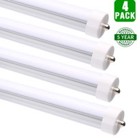 Wholesale 4 Pack Hykolity T8 LED Tube Light FT W Shop Lights LM Daylight White Single Pin FA8 Fluorescent Replacement Lighting Fixtures