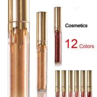 beauty cosmetics shop - 2017 new NEW High Quality Beauty Lipgloss Gloss Set Cosmetics Matte Liquid Lipstick Gold lipgloss Free shopping
