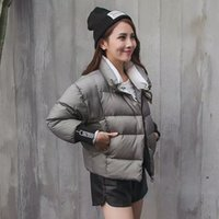 acrylic serving - Brief paragraph cotton padded jacket coat female han edition of new fund of autumn winters is bread served cotton padded clothes down m
