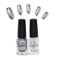 Wholesale pc set Varnish Base Coat Metallic Nails Art DIY Manicure Design Behind Silver Mirror Effect Metalic UV Nail Polish