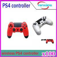 Precio de Joystick usb-Controlador de juegos inalámbrico para PS4 Controlador de consola PlayStation 4 Cable de carga de alimentación USB Joystick de alta calidad Gamepad 100pcs YX-PS4-01