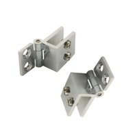 adjustable door hinges - 2pcs Degree Adjustable Glass Hing Fit for mm Glass Thickness Door Clip Clamp Hinges
