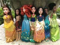 baby belle doll - olls Accessories Dolls Princess Royal Shimmer quot Ariel Mulan Cinderella Merida Snow White Rapunzel Belle Aurora Doll Action Figure