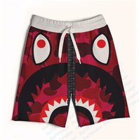 animals with big teeth - Colors Real USA Size Red Shark Big Teeth Zip Up Print D Sublimation Print Custom made Fifth Seventh Shorts with String