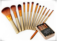 Wholesale Newest Gold Naked Makeup Brush Makeup Brushes Kit with Eye Shadow Professional Brushes Tool kits BB Cream Hiqh Quality DHl Free Ship