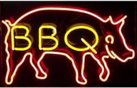 bbq pig roast - BBQ Pig Neon Sign Light Custom Handmade Real Glass Tube Cookout Wiener Wienie Weenie Roast Store Display Neon Signs quot X14 quot