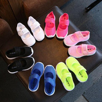 Wholesale Summer candy color breathable mesh children shoes net fabric children sports shoes children casual shoes girls sneakers