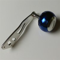 Wholesale DIY Aluminum Alloy handle knob for ABU GARICA C3 C4 CS RCN saltwater Baitcasting Fishing Reel Tackle Tools fishing reel color blue