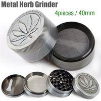 Wholesale New Metal Herb Grinder Piece Cheap Tobacco Grinder Magentic Designed Amsterdam with Pollen Catcher Scraper mm Grey Color