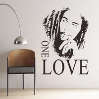 Wholesale High Quality Wall Sticker PVC Wall Decal with Black Color cm BOB MARLEY ONE LOVE DIY Stickers