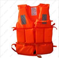 Wholesale Professional Orange Foam Swimming Adult Life Jacket with Whistle
