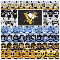 active pittsburgh - Stitched ELITE Pittsburgh Penguins Sidney Crosby Jerseys Ice Hockey Kris Letang Evgeni Malkin Phil Kessel Lemieux Rust