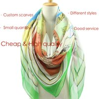 Wholesale Small Children Picture - Small Quantity Custom Adult Children Chiffon Scarf Cana Scarf Polyester Voile Scarf Provide Picture Customization LOGO Free DHL