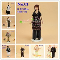 Wholesale 1 Dollhouse Miniatures Dolls Human Figures Man Women Nanny Old Young doll