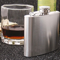 Wholesale Mens Hip Flasks Stainless Steel oz oz oz oz oz oz oz Liquor Flask Portable Pocket Wine Alcohol Flask Bottle Flagon With Funnel Hot
