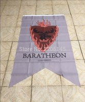 banner eyelets - Game Of Thrones Winter Comes baratheon flag X150CM with eyelets digital print banner