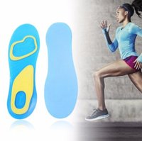 Wholesale 1 pair Men Women Silicone Gel Orthotic Comfort Arch Support Massage Sport Shoe Insoles Shock Absorber Heel Arch Feet Foot Support Run Pads