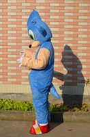 Wholesale 2016 sonic latest cartoon mascot costume adult size costumes Halloween party revelers Christmas costume party