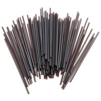 Wholesale Drinking Straws Dia Plastic Black Design Cocktail Straws for Birthday Wedding Decoration Party Event Supllies mm