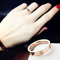 Wholesale Titanium steel ring I want my Fan fashion atmosphere Europe and the United States exaggerated ring female Korean version of the ring simple