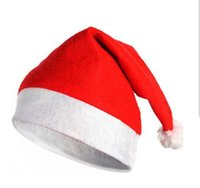 Wholesale Fashion Nonwovens Christmas Caps Christmas Santa Claus Hats Christmas Gifts Decoration Cheapest christmas santa claus cap
